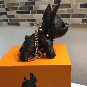 LV dog keychain